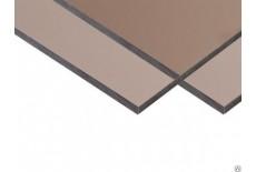 Монолитный поликарбонат коричневый 1,5-12мм