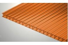 Цветной поликарбонат 4 мм, оранжевый