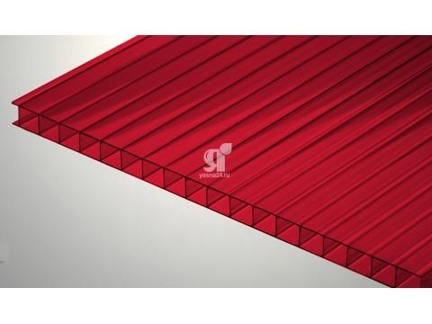Цветной поликарбонат 10 мм, рубин