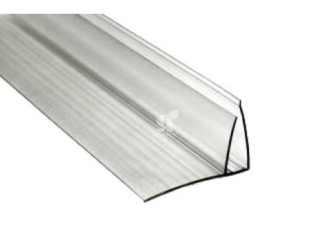 Профиль пристенный 4-6 мм прозрачный, 6 м