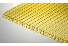 Цветной поликарбонат 8 мм, желтый