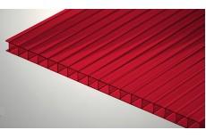 Цветной поликарбонат 4 мм, рубин