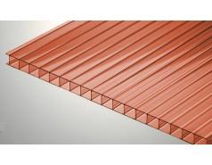 Цветной поликарбонат 6 мм, красный