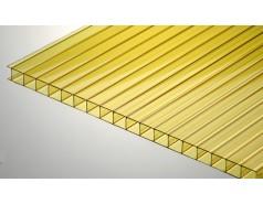 Цветной поликарбонат 10 мм, желтый