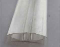 Профиль соединительный неразъемный прозрачный 10 мм, 6м