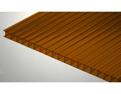 Цветной поликарбонат 8 мм, коричневый