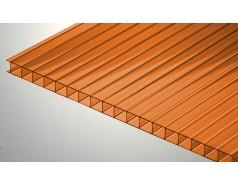 Цветной поликарбонат 10 мм, оранжевый