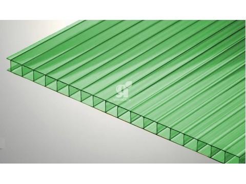 Цветной поликарбонат 10 мм, зеленый
