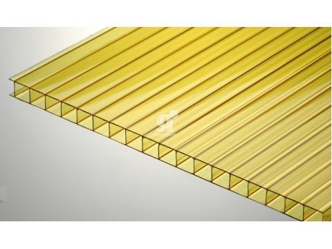 Цветной поликарбонат 4 мм, желтый