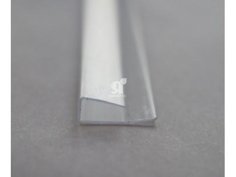 Профиль торцевой прозрачный 4 мм