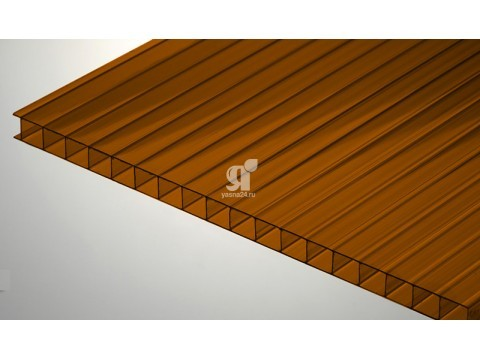 Цветной поликарбонат 10 мм, коричневый