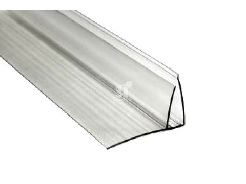 Профиль пристенный 8-10 мм прозрачный, 6 м