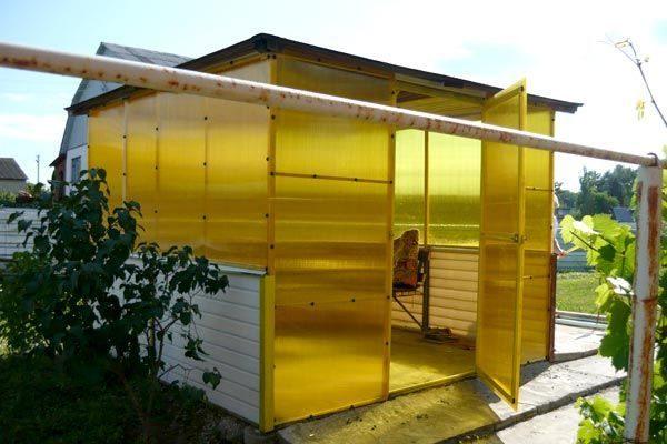 Желтый поликарбонат